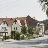 Schleizer Straße mit Dorfplatz