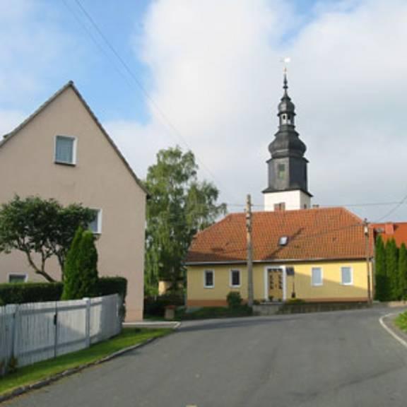 Blick in die Ortschaft Gertewitz