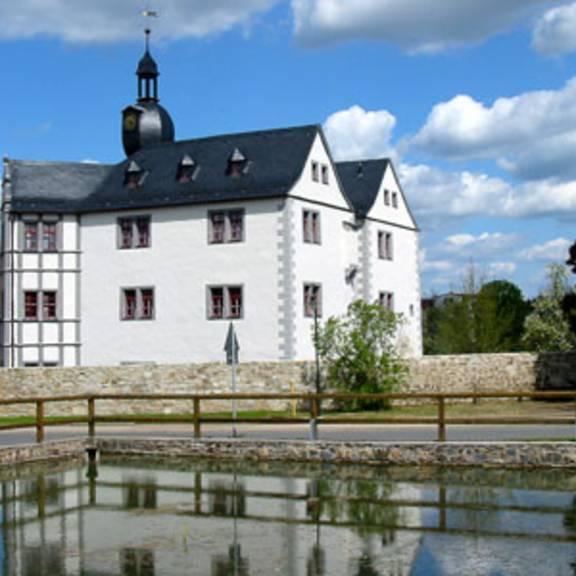 Blick auf das Schloss Nimritz